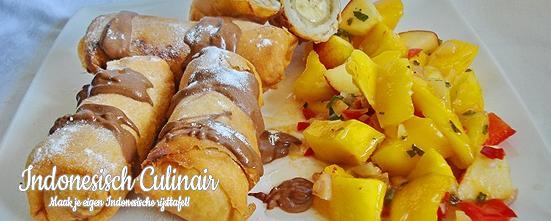 Loempia Pisang dan Salad Mangga | Indonesisch-Culinair.nl