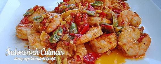 Udang Balado Peteh | Indonesisch-Culinair.nl