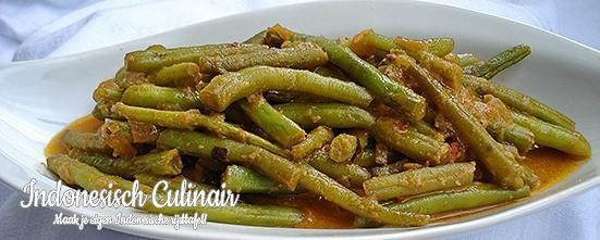 Sambal Goreng Buncis Tiga | Indonesisch-Culinair.nl