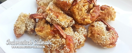 Udang Goreng Salut Wijen | Indonesisch-Culinair.nl