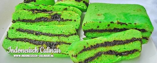 Kue Lapis Pandan Coklat | Indonesisch-Culinair.nl