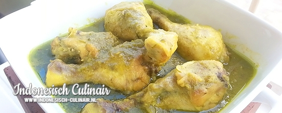 Ayam Bumbu Hijau Padang | Indonesisch-Culinair.nl