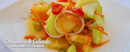 Acar Ketimun Nanas | Indonesisch-Culinair.nl
