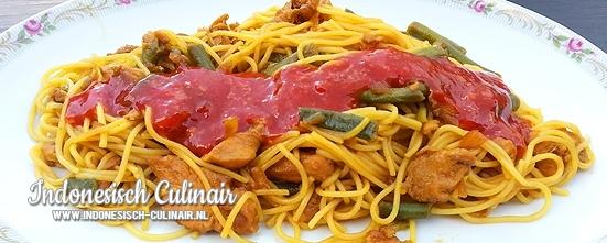 Bami Ayam Buncis | Indonesisch-Culinair.nl